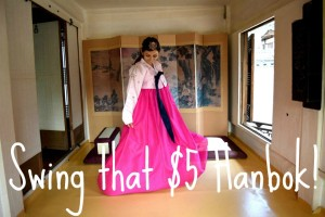 Swing that $5 hanbok!