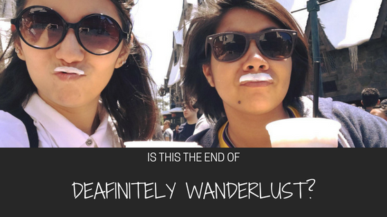 Is it the end of Deafinitely Wanderlust?