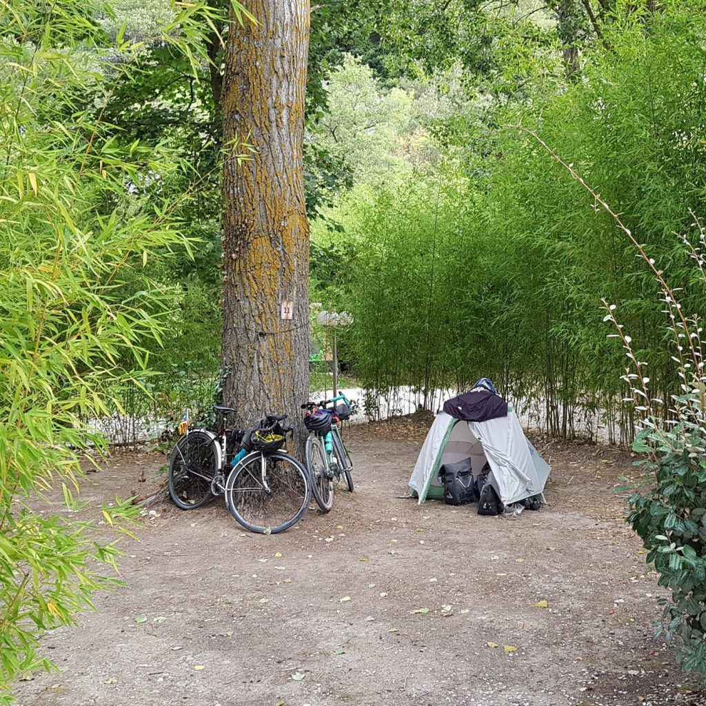 cycling and camping